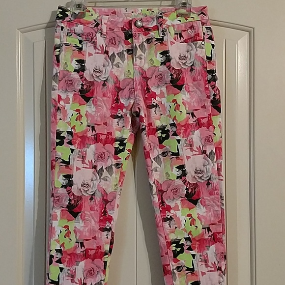 Justice Other - Justice premium floral print stretch jeans.